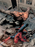 Marvel Knights Spider-Man No.15 Cover: Spider-Man and Crusher Creel Fighting Plastic Sign by Billy Tan
