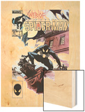 Web Of Spider-Man No.1 Cover: Spider-Man Crouching Wood Print by Charles Vess