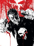 Punisher War Journal No.17 Cover: Punisher Plastic Sign by Alex Maleev