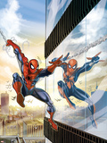 Amazing Spider-Man Family No.5 Cover: Spider-Man and Spider-Girl Wall Decal by Ron Frenz