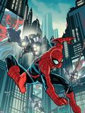 Timestorm 2009/2099: Spider-Man One-Shot No.1 Cover: Spider-Man Fighting Plastic Sign by Paul Renaud