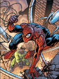 Marvel Adventures Two-In-On No.19 Cover: Spider-Man and Doctor Octopus Plastic Sign by Zach Howard