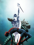 Dark Reign: Mister Negative No.1 Cover: Mr. Negative and Spider-Man Plastic Sign by Jae Lee