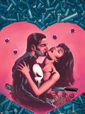 The Punisher Bloody Valentine No.1 Cover: Punisher Plastic Sign by Paul Gulacy