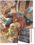 Marvel Adventures Two-In-On No.19 Cover: Spider-Man and Doctor Octopus Wood Print by Zach Howard