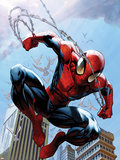 Ultimate Spider-Man No.156 Cover: Spider-Man Jumping Plastic Sign by Mark Bagley