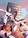 The Amazing Spider-Man No.660 Cover: Spider-Man, Thing, Mr. Fantastic, and Invisible Woman Print by Stefano Caselli