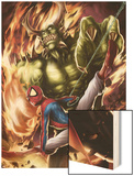 Spider-Man India No.4 Cover: Spider-Man and Green Goblin Wood Print by Jeevan J. Kang