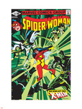 Spider-Woman No.38 Cover: Spider Woman, Colossus, Juggernaut, Angel, Storm and X-Men Wall Decal by Steve Leialoha