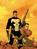 Punisher: War Zone No.6 Cover: Punisher Plastic Sign by Steve Dillon
