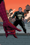 Avenging Spider-Man 22 Cover: Spider-Man, Punisher Plastic Sign by Paolo Rivera