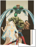Ultimate Six No.7 Cover: Spider-Man Wood Print by John Cassaday