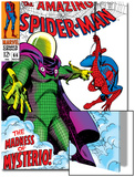The Amazing Spider-Man No.66 Cover: Mysterio and Spider-Man Fighting Posters by John Romita Sr.
