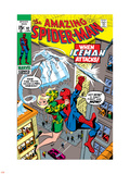 Amazing Spider-Man No.92 Cover: Spider-Man, Stacy, Gwen and Iceman Plastic Sign by Gil Kane