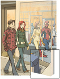 Spider-Man Loves Mary Jane No.18 Cover: Spider-Man Wood Print by David Hahn