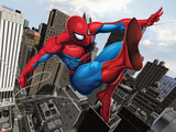 Spider-Man Swinging In the City Wall Decal