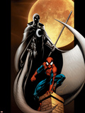 Ultimate Spider-Man No.80 Cover: Spider-Man and Moon Knight Wall Decal by Mark Bagley