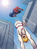 The Amazing Spider-Man No.559 Cover: Spider-Man and Screwball Plastic Sign by Ed McGuinness