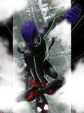 Ultimate Comics Spider-Man No.10 Cover: Spider-Man and Prowler Fighting Plastic Sign by Kaare Andrews