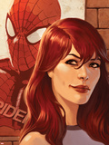 Web of Spider-Man No.11 Cover: Mary Jane Watson in front of a Poster Plastic Sign by Jelena Djurdjevic