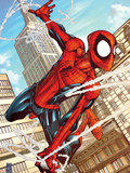 Marvel Adventures Spider-Man No.50 Cover: Spider-Man Plastic Sign by Patrick Scherberger