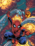 Friendly Neighbourhood Spider-Man No.1 Cover: Spider-Man Charging Plastic Sign by Mike Wieringo