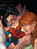 Marvel Knights Spider-Man No.13 Cover: Spider-Man, Wolverine, and Mary Jane Watson Plastic Sign by Billy Tan