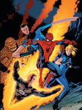 Barry Kitson - The Amazing Spider-Man No. 590 Cover: Spider-Man Plastové cedule