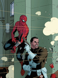 Spectacular Spider-Man No.1000 Cover: Spider-Man and Punisher Plastic Sign by Paolo Rivera