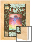 The Amazing Spider-Man No.365 Cover: Spider-Man Wood Print by John Romita Sr.