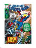 Amazing Spider-Man No.88 Cover: Spider-Man and Doctor Octopus Plastskilt av John Romita Sr.