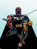 Spider-Girl No.92 Cover: Spider-Girl, Shadowcat and Magneto Wall Decal by Ron Frenz