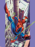 Ultimate Spider-Man No.8 Cover: Spider-Man Flying Plastic Sign by Mark Bagley