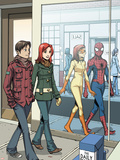Spider-Man Loves Mary Jane No.18 Cover: Spider-Man Wall Decal by David Hahn