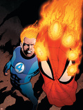 The Amazing Spider-Man No.591 Cover: Human Torch Plastic Sign by Barry Kitson