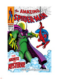 The Amazing Spider-Man No.66 Cover: Mysterio and Spider-Man Fighting Plastic Sign by John Romita Sr.