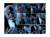 Ultimate Spider-Man No.110 Headshot: Spider-Man, Daredevil, Kingpin, and Vanessa Fisk Fighting Wall Decal by Mark Bagley
