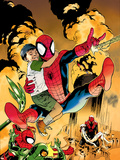 Ultimatum: Spider-Man Requiem No.2 Cover: Spider-Man Jumping Plastic Sign by Stuart Immonen