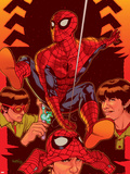 Spider-Man: With Great Power&No.5 Cover: Spider-Man, Peter Parker Plastic Sign by Tony Harris