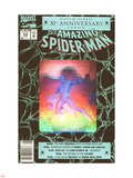 The Amazing Spider-Man No.365 Cover: Spider-Man Plastskilt av John Romita Sr.