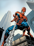 Amazing Spider-Man No.520 Cover: Spider-Man Swimming Plastikskilte af Mike Deodato