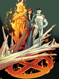 Ultimate Fallout No.3 Cover: Kitty Pryde, Human Torch, and Iceman Plastic Sign by Andy Kubert