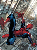 Marvel Adventures Spider-Man No.52 Cover: Spider-Man Plastic Sign by Carlos Ferriera