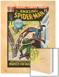 The Amazing Spider-Man No.108 Cover: Spider-Man Swimming Wood Print by John Romita Sr.