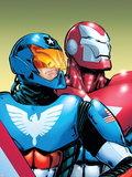 The Amazing Spider-Man No.599 Cover: American Son and Iron Patriot Wall Decal by Phil Jimenez