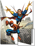 Marvel Adventures Spider-Man No.16 Cover: Spider-Man and Dr.Strange in the City Sky Posters by Ale Garza