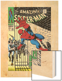 The Amazing Spider-Man No.65 Cover: Spider-Man Charging Wood Print by John Romita Sr.
