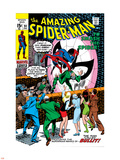 Amazing Spider-Man No.91 Cover: Spider-Man Fighting Plastic Sign by Gil Kane