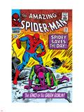 Dark Reign: The Goblin Legacy, cover med et bilde: Spider-Man, sloss Plastskilt av John Romita Sr.