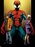 Ultimate Spider-Man No.111 Cover: Spider-Man, Peter and May Parker Plastic Sign by Mark Bagley